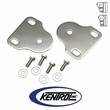Polished Stainless Steel Interior Windshield Bracket Set fits 1976-1995 Jeep CJ & YJ Wrangler by Kentrol