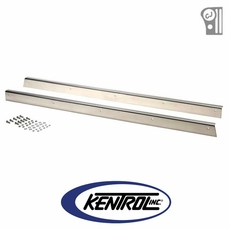 Polished Stainless Steel Rocker Guard Set fits 1955-1983 Jeep CJ5 by Kentrol