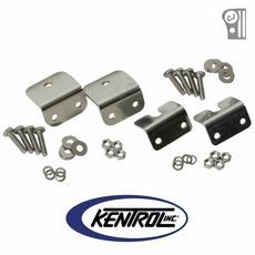Polished Stainless Steel Strut Rod Mounting Brackets for Fiberglass Body fits 1972-1986 Jeep CJ Models by Kentrol