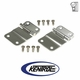Polished Stainless Steel Tailgate Hinge Set fits 1976-1986 Jeep CJ Models by Kentrol