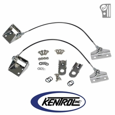 Polished Stainless Steel Tailgate Pivot Latch Assembly for Fiberglass Body fits 1976-1986 Jeep CJ Models by Kentrol