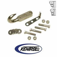 Polished Stainless Steel Tow Hook fits 1972-2006 Jeep CJ, Wrangler YJ, & TJ by Kentrol