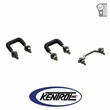 Polished Stainless Steel Windshield Tie Down Kit fits 1955-1986 Jeep CJ Models by Kentrol