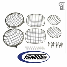 Polished Stainless Steel Wire Mesh Guard Set, 6 pieces, fits 1976-1986 Jeep CJ Models by Kentrol