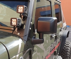 Proline 4WD 2007-2015 Jeep Wrangler JK Windshield Dual LED Light Mount