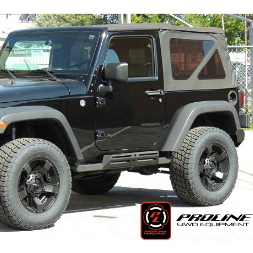 pl 029 proline 4wd 2007 2017 jeep wrangler jk 2 door rocksliders midwest jeep willys. Black Bedroom Furniture Sets. Home Design Ideas