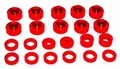 Prothane Body & Cab Mount Bushing Kit for Jeep 1976-79 CJ5, CJ7 (22 PCS), RED