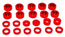 Prothane Body & Cab Mount Bushing Kit for Jeep 1997-06 WRANGLER (22 PCS), RED