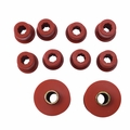 Prothane Rear Spring & Shackle Bushing Kit for Jeep 1976-86 CJ, RED