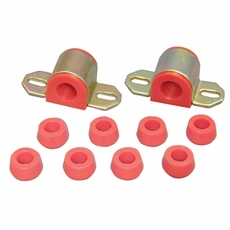 "Prothane Swaybar Bushing Kit for Jeep 1976-86 CJ With 7/8"" DIAMETER BAR, RED"