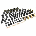 Prothane Total Suspension Kit for Jeep 1955-75 CJ, BLACK