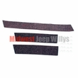 Radiator and Air Deflector Felt Kit, 1941-1964 MB, GPW, CJ2A, CJ3A, M38, CJ3B, Includes 3 Felts,1 Top and 2 Sides