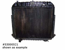 Radiator, Jeep CJ (1981-1985) w/ 2.1L Diesel engine.