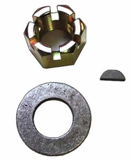 """Rear Axle Nut Kit.  Includes Nut, Washer and Axle Key.  Fits 1976-1986 CJ's with """"AMC"""" Model 20 Rear Axles"""
