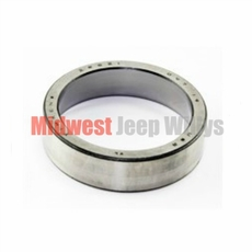 Rear Axle Shaft Bearing Cup with Tapered Axles, Fits Jeep CJ Models, C101, M38, M38A1, FC150, 4WD Station Wagon, 4WD Sedan Delivery with Dana 41 & 44 Axles
