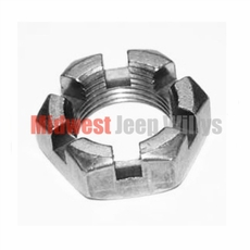 Rear Axle Shaft & Hub Nut with Tapered Axles, Fits Jeep CJ Models, C101, M38, M38A1, FC150, 4WD Station Wagon, 4WD Sedan Delivery with Dana 41 & 44 Axles