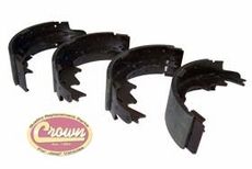 "Rear Brake Shoe Set, 2000-06 Jeep Wrangler TJ, 2000-01 Cherokee XJ with 9"" Rear Drum Brakes"