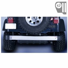 Rear Bumper, Stainless Steel, 97-06 Jeep Wrangler by Rugged Ridge