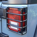 Tail Light Euro Guards, Black, 07-17 Jeep Wrangler by Rugged Ridge