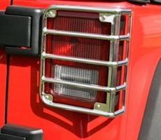 Tail Light Euro Guards, 07-17 Jeep Wrangler by Rugged Ridge