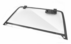 Rear Lift Gate Glass Assembly, Hardtop Glass with Hinges and Wiper Arm Motor, Jeep Wrangler (YJ) 1987-1995