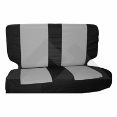 Rear Seat Cover & Belt Cover Set, Black & Gray, 1987-95 Wrangler YJ, 1997-02 Wrangler TJ