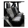 Rear Seat Covers, 2-Door Black & Gray, 2007-2011 Jeep Wrangler JK w/ 2-Doors