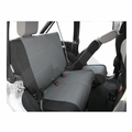 Rear Seat Covers, 4-Door Black & Gray, 2007-2011 Jeep Wrangler JK w/ 4-Doors