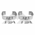 Stainless Rear Bumperette Kit for 1976-1986 Jeep CJ, 1987-1995 Wrangler YJ Models