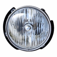 Replacement Passenger Side Headlamp, 2007-12 Jeep Wrangler JK & Wrangler Unlimited JK