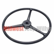 "Replacement Black Steering Wheel for 1-1/4"" Horn Button, Fits CJ2A, CJ3A, CJ3B, DJ3A, CJ5, CJ6, FC150"