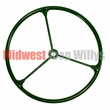 Replacement Steering Wheel, Olive Green with Metal Spokes, Fits 1941-1945 MB, 1941-1945 GPW