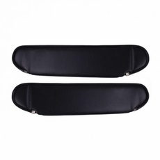 Replacement Sun Visors, Black, 87-95 Jeep Wrangler by Rugged Ridge