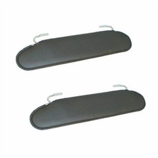 Replacement Sun Visors, 72-86 Jeep CJ models by Rugged Ridge