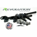 Revolution Gear & Axle 2007-2017 Jeep Wrangler JK Sahara & X Model, US Made D30 Front Axle Kit, 30 Spline Upgrade