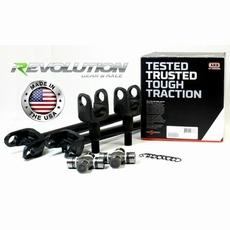Revolution Gear & Axle 2007-2017 Jeep Wrangler JK Sahara & X Model, US Made D30 Front Axle Kit, 30 Spline Upgrade, w/ARB, Air Locker