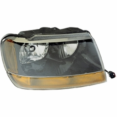 Right Side Headlight, 1999-04 Grand Cherokee Laredo