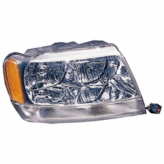 Right Side Headlight, 1999-04 Jeep Grand Cherokee Limited