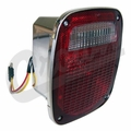 Right Side Tail Lamp Assembly, Chrome, fits 1981-86 Jeep CJ5, CJ7 & CJ8