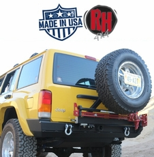 Rock Hard 4x4 1984-2001 Jeep Cherokee XJ Rear Bumper w/Swing Out Tire Carrier