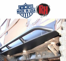 Rock Hard 4x4 Patriot Series Rocker Guards w/ Tube Sliders, Black Finish for 1987-1995 Jeep Wrangler YJ