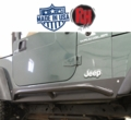 Rock Hard 4x4 Patriot Series Rocker Guards w/ Tube Sliders, Black Finish for 1997-2006 Jeep Wrangler TJ