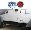 Rock Hard 4x4 Patriot Series Rocker Guards w/o Tube Sliders, Black Finish for 2003-2006 Jeep Wrangler Unlimited LJ