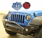 ( RH5006 ) Rock Hard 4x4 2007-2017 Jeep JK Wrangler Patriot Series Full Width Front Bumper