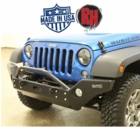( RH5005 ) Rock Hard 4x4 2007-2017 Jeep JK Wrangler Patriot Series Full Width Front Bumper w/ Lowered Winch Mount