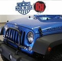 ( RH6061 ) Rock Hard 4x4 2007-2017 Jeep JK Wrangler Light Mount with Grille Guard for Factory Front Bumper