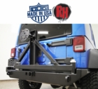 ( RH5001 ) Rock Hard 4x4 2007-2017 Jeep JK Wrangler Rear Bumper & Tire Carrier