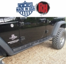 "( RH6006S ) Rock Hard 4x4 2007-2017 Jeep JK Wrangler Patriot Series ""Boat Side"" Rock Sliders w/ Smooth Plate 4-Door"