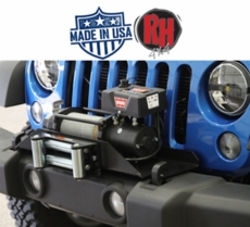 Rock Hard 4x4 2007-2017 Jeep JK Wrangler Patriot Series Winch Mounting Plate for Factory Front Bumper