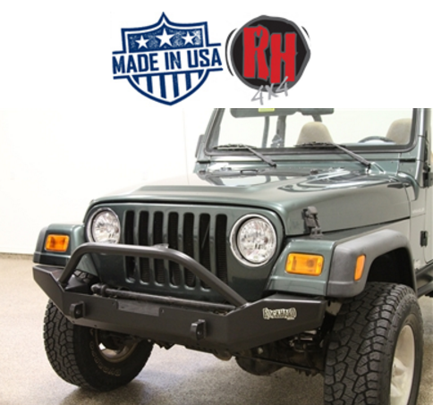 rock hard 4x4 jeep extreme duty front bumper for 1976 2006 wrangler tj yj and cj s 26 rh4010 rock hard 4x4 patriot series full width front bumper for 1976